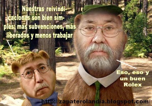 Yogui y Bubu sindicalistas