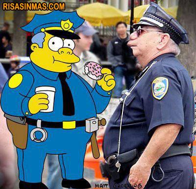 El verdadero jefe Wiggum de Los Simpson