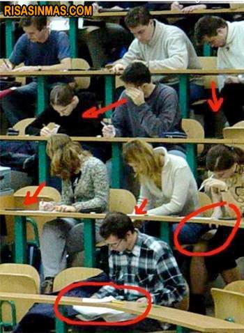 En mi clase no se copia...