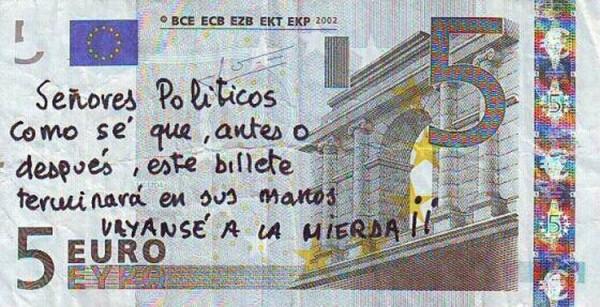 Mensaje a los políticos españoles