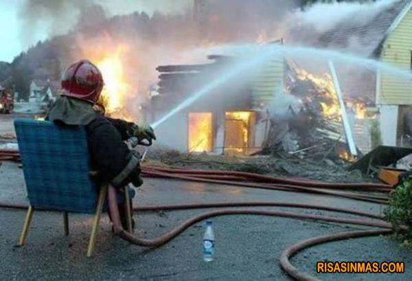 El bombero vago
