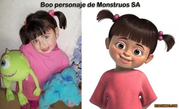 Boo personaje de Monstruos SA