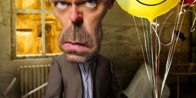Caricatura de Hugh Laurie