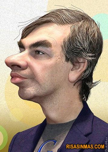 Caricatura de Larry Page