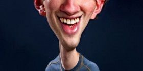 Caricatura de Mark Zuckerberg