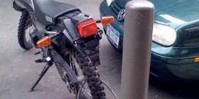 Mi moto está perfectamente atada