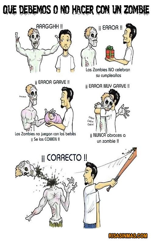 Cómo comportarse con un Zombie