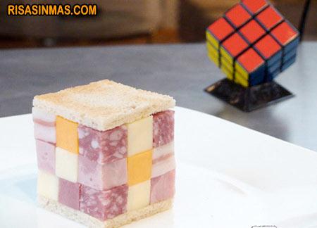 Cubo de Rubik para almorzar