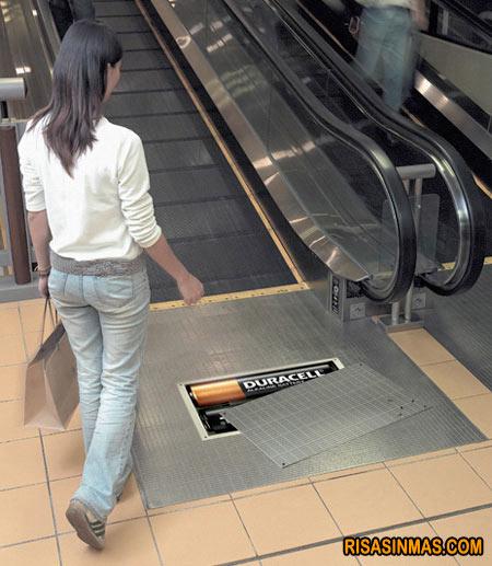 Escalera mecánica Duracell
