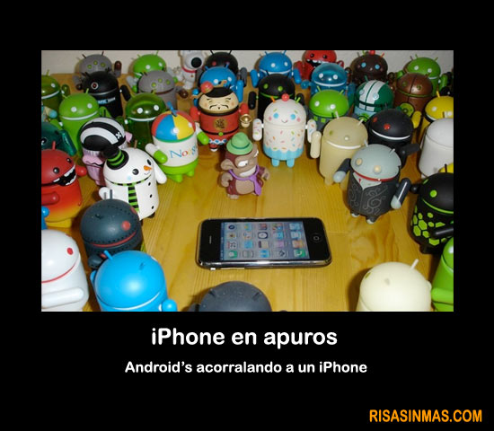 iPhone en apuros