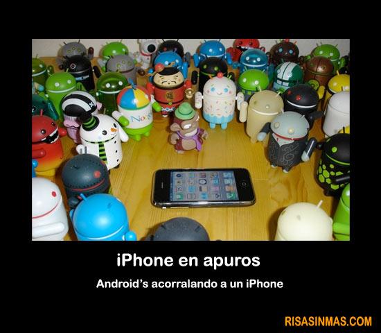 iPhone en apuros