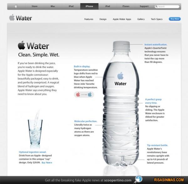 iWater, lo nuevo de Apple