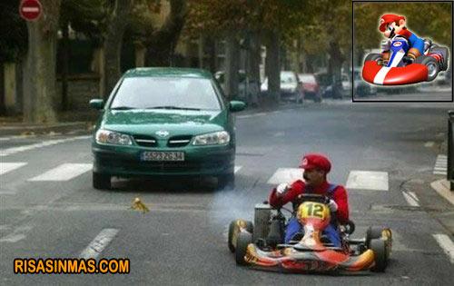 Mario Kart versión humana