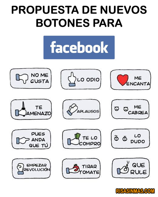 Propuestas de nuevos botones para Facebook