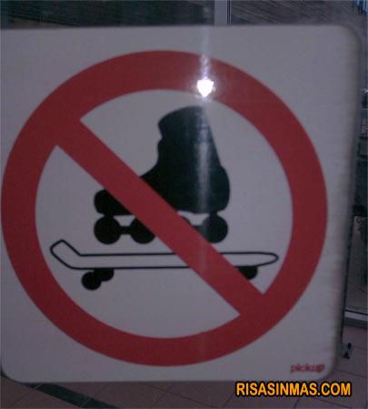 Prohibido patinar en monopatín