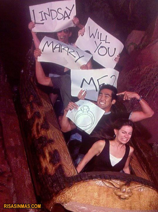 Una petición de boda divertida
