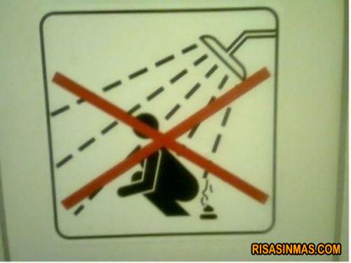 Si te duchas no...