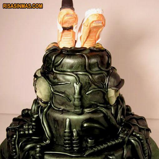 Tarta de boda Alien