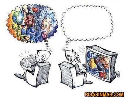 ¿Lees o ves la televisión?