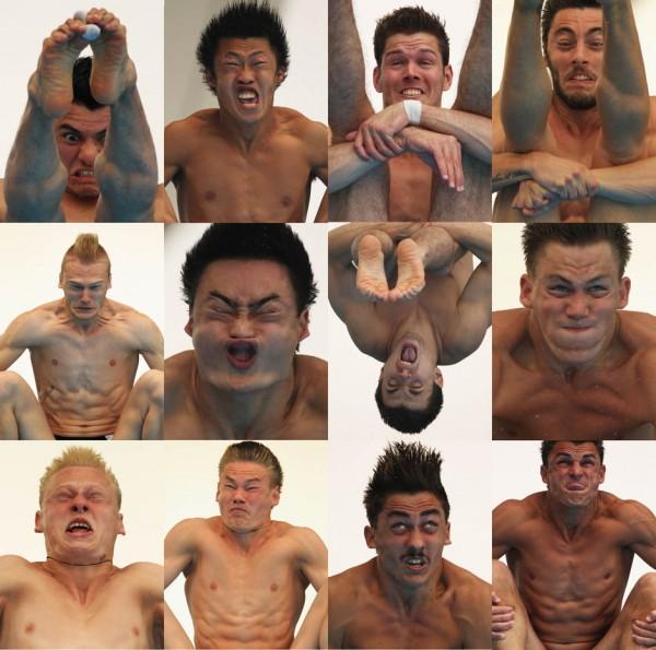 Fotografías de saltadores de trampolín