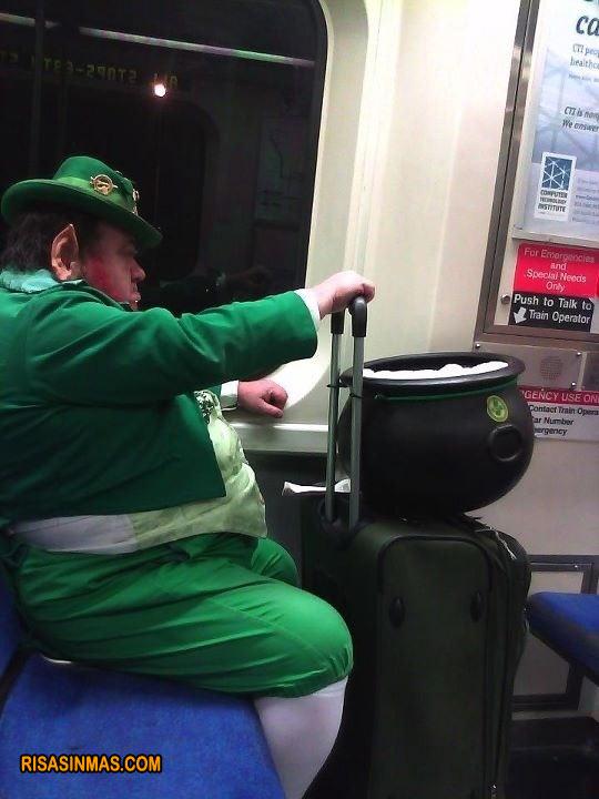 Visto un leprecaun en metro