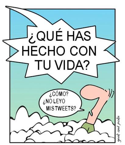 Dios pregunta a un usuario de Twitter