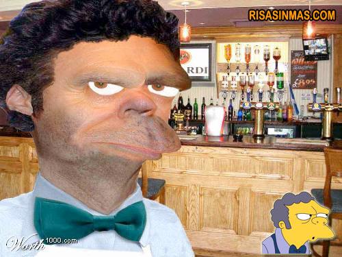 Caricatura Barman Moe de Los Simpson
