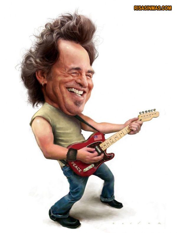 Caricatura de Bruce Springsteen