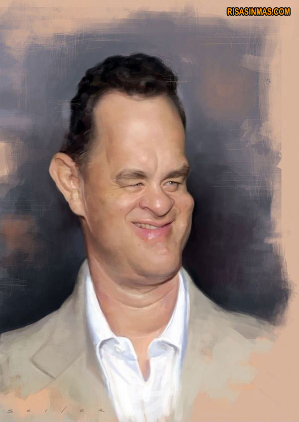 Caricatura de Tom Hanks