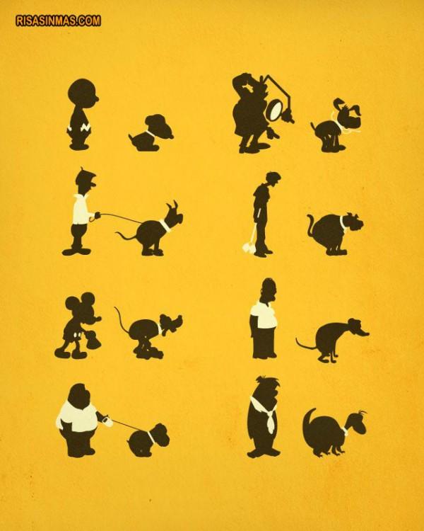 Las mascotas de los dibujos animados