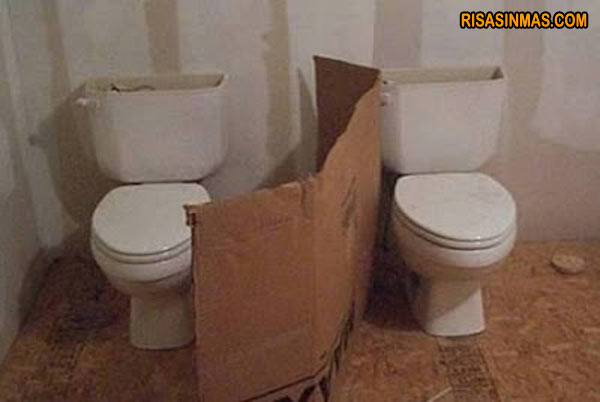 Baños nada íntimos