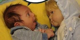 Bebé piropeando