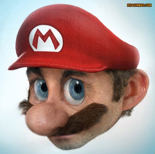 Caricatura de Mario Bros
