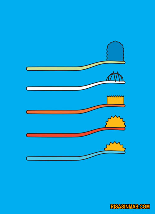 Los cepillos de dientes de Los Simpsons