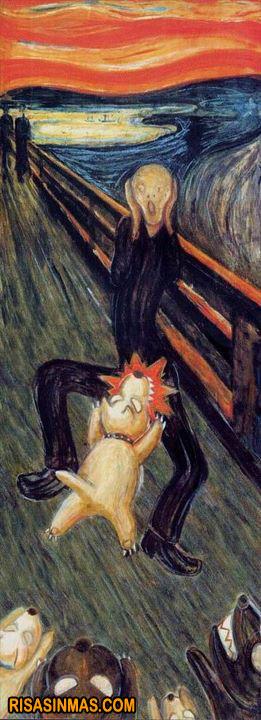 Cuadro completo El grito de Munch