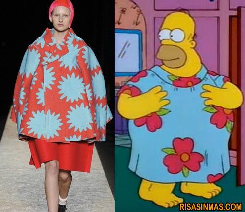Moda Homer Simpson Primavera Verano 2012
