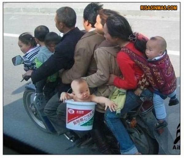 La familia que viaja unida...