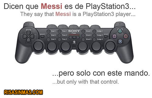 Mando de Playstation 3 de Messi