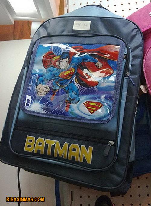 Mochila de ¿Batman o Superman?