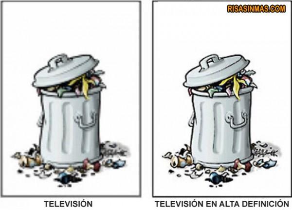 Televisión y televisión en alta definición.