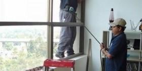 Trabajos arriesgados: limpiador de cristales