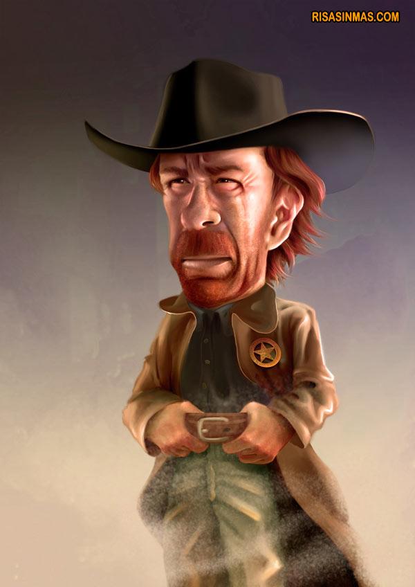 Caricatura de Chuck Norris