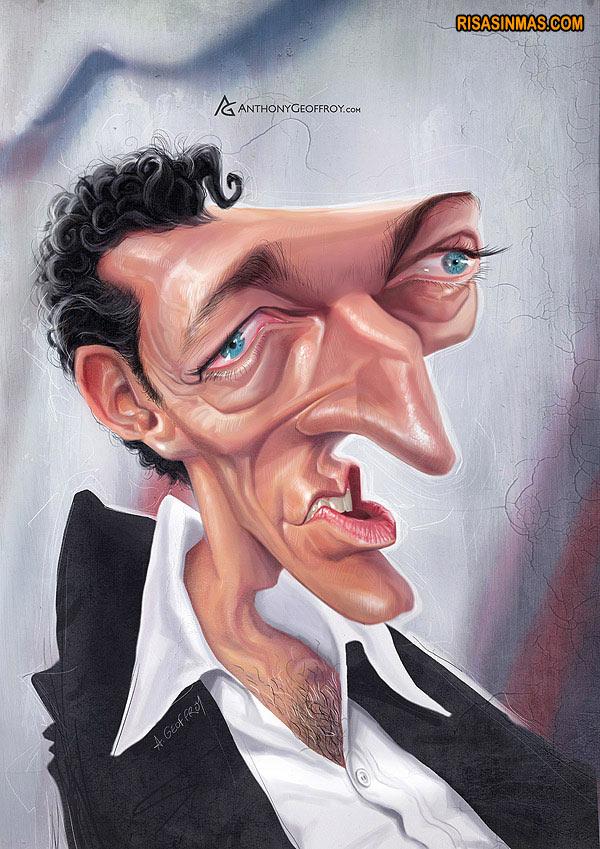 Caricatura de Vincent Cassel