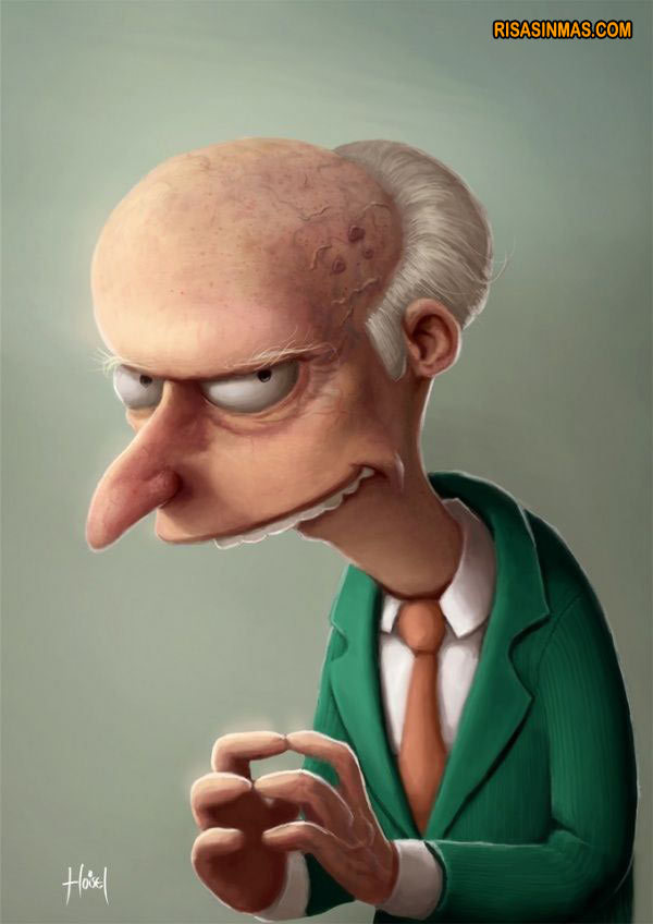Caricatura del señor Burns