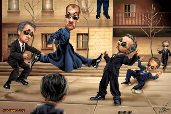 Matrix: Pep Guardiola vs José Mourinho