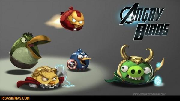 Angry Birds versión Vengadores
