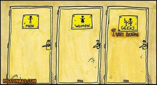 Imagenes De Baño Mujeres:Baños para hombres, Mujeres… y Geeks