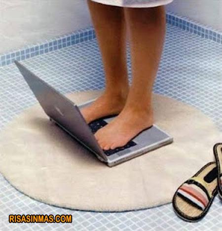 ¿Cariño has visto la nueva báscula portátil?