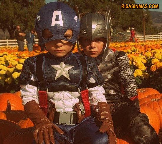 Disfraces de niño: Capitán América y Thor