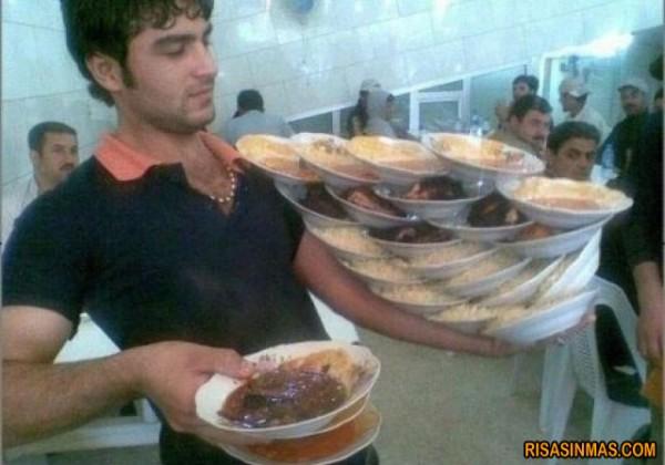 Probablemente el mejor camarero del mundo